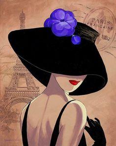 Illustration by Lorraine Dell Wood Art And Illustration, Images D'art, Lorraine, Mail Art, Female Art, Art Pictures, Vintage Posters, Art Nouveau, Pop Art