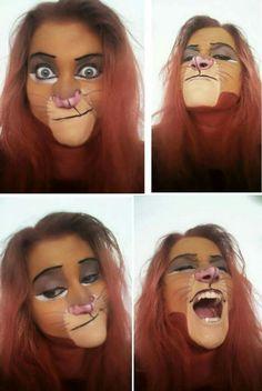 Simba Face paint Lion King