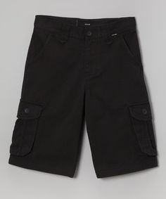 Another great find on #zulily! Black Cargo Shorts - Toddler & Boys by Hurley #zulilyfinds