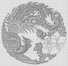 This one could be stitched in WHATEVER color suits your fancy. Cross Stitch Bird, Cross Stitch Animals, Cross Stitch Charts, Cross Stitch Designs, Cross Stitching, Cross Stitch Embroidery, Embroidery Patterns, Cross Stitch Patterns, Crochet Patterns