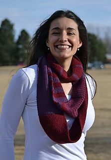Infinity Scarf by Marly Bird - two-color striped scarf knit with our 100% yak sport weight yarn!