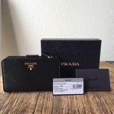 prada clutch bag - prada saffiano leather oro zip-around wallet, popular hand bags