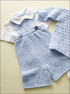 Dressy outfit foR Noah! overalls are cute and look knitted! but Crochet – Babykleidung Stricken Crochet Baby Clothes Boy, Crochet Baby Jacket, Crochet Bebe, Crochet For Boys, Crochet Children, Boy Crochet, Crochet World, Baby Outfits, Baby Patterns