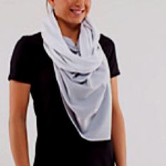 Vinyasa scarf from lulu lemon, I wear mine every day. I looooove it!!