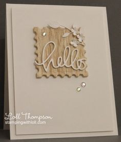 Flowery Hello card by Loll Thompson