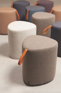 Pully is a pouf with a different kind of shape that defies convention. The leather handle makes it easy to carry Pully around, offering comfort and flexibility in the workplace. Patio Furniture Covers, Sofa Furniture, Furniture Design, Do It Yourself Furniture, Pouf Ottoman, Soft Seating, Sofa Design, Leather Handle, Upholstery