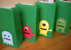 Monster Birthday party Favor/Treat bags  by ClaudiaCurtiDesigns, $30.00