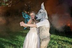 The unofficial first dance ♡  Amazing Midsummer Night's Dream themed wedding so…