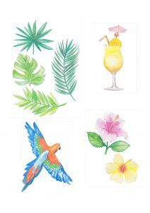 Free tropical printables from Papercraft Inspirations 167 - Papercraft Inspirations