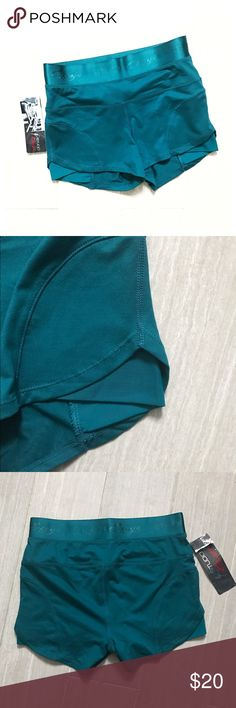 NWT Capezio Studio Teal Shorts Dancewear shorts by studio capezio. Also great for working out. New with tags. Size small. Stretch to fabric. Offers welcome. Capezio Shorts