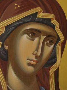 Pictura bizantina - Simona Cristina Mitroaica: Icoane Byzantine Art, Orthodox Icons, Virgin Mary, Our Lady, Madonna, Princess Zelda, Drawings, Greek Icons, Painting