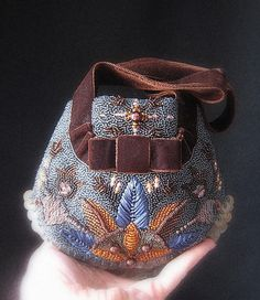 hand embroidered evening bag