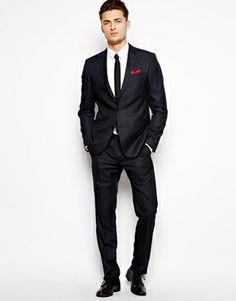 ASOS Slim Fit Suit Jacket In Birdseye (£51) (Trousers £24)