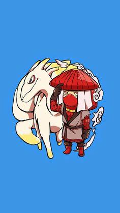 Han and Kokuou the Gobi. Tap image for more Cute Jinchūriki Bijuu Naruto Shippuden Characters Wallpapers Collection. 750 x 1334 Wallpapers - @mobile9
