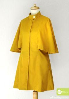Cape Coat sewing pattern -Lemon Pie-  by Waffle Patterns | Project | Sewing / Outerwear | Kollabora