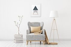 Trio of Triangles - we think it looks great with such a simple interior  ____ Shop online www.typebyme.com ____ #typebyme