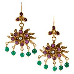 Natural Turkey Blue Turquoise 18k GP Gold-plated Handmade Water Earring