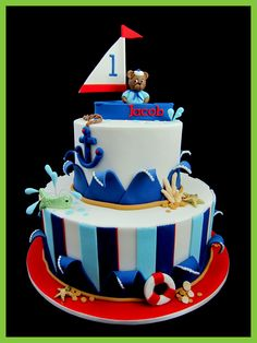 sailor bear cake design