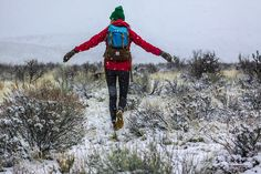 It's never too nasty to go walking. by The Noisy Plume, via Flickr @Topo Designs