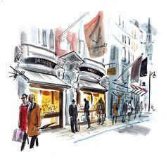 Dan Williams city watercolor illustration
