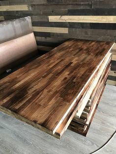 Diy Butcher Block Desk Build An L Shaped Desk With Pipe