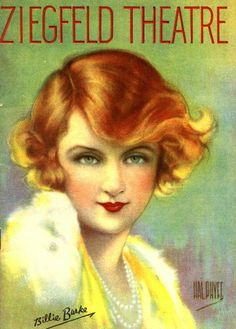 Billie Burke, by Hal Phyfe, on the cover of Ziegfeld Theatre Magazine c.1930