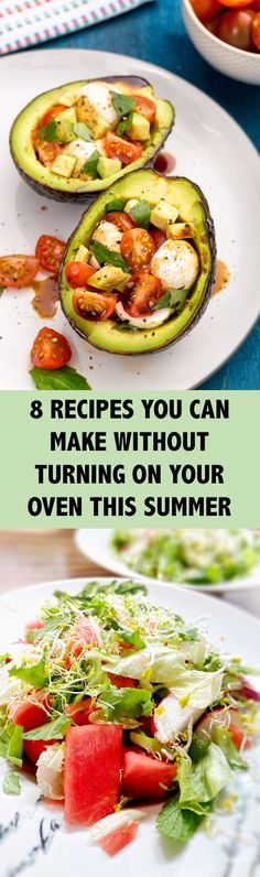 Here are a few great meals and snacks you can make so that you can sweat by the pool instead of in the kitchen.