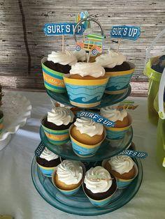 Beach bucket favors 1st birthday partytropicalsurf theme