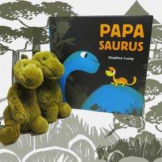 Papasaurus by @StephanLomp makes a great Father's Day gift from the kids! Colorful and reassuring this book is a fresh twist on a perennial theme that will win the hearts of little ones and their papas alike. #dad #fathersday #dinosaur #stephenlomp #kids #kidsbooks #reading #papa #papasaurus   www.nomadcambridge.com