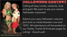 Help make this fun & reblog to spread the word. Submit your sexy Halloween pics HERE or email to BucketlistSex@gmail.com!