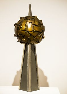 Doug Cannell - Apology to a Planet (bronze, stainless steel)