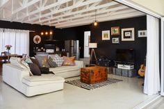 Black & White Interior - featuring Cemcrete flooring