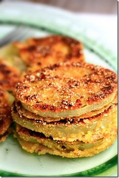 Fried Green Tomatoes from Sugar Plum Blog