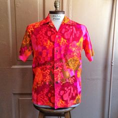 by BriarVintage Vintage Hawaiian Shirts, Casual Shirts, 1960s, The Cure, Men Casual, Vibrant, Trending Outfits, Blouse, Unique Jewelry