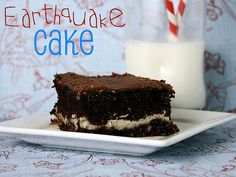 Earthquake Cake with pecans, coconut and a cheesecake middle