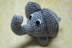 One of our menagerie of amigurumi animals, this little elephant is sure to be a…