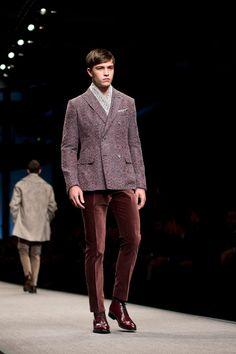 Francisco Lachowski for Canali Fall Winter 2014 Menswear