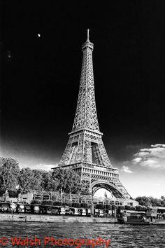 Black and White Eiffel Tower Photo. $40.00, via Etsy.