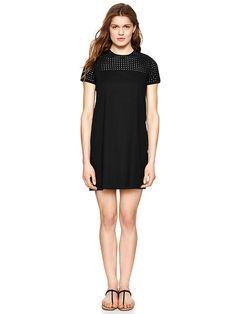 Eyelet shift dress, gap - $69.95