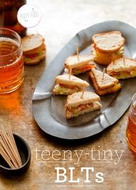 Teeny Tiny BLTs - finger foods for party