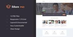awesome Educo - Educational PSD Template