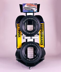 really cool tire display by FHC Marketing