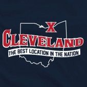 Cleveland best location in the nation t shirt