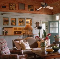 Island Cottage rustic living room