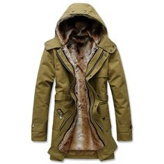 >> Click to Buy << Designer Mens Hooded Pea Coats with Velvet Winter Windbreaker Thicken Mens Down & Parkas Coats European and American Style C141 #Affiliate
