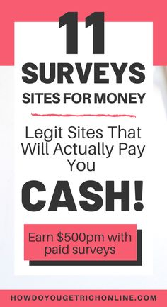 11 Trustworthy Survey Sites to Make Extra Money (Ultimate Guide) Best Online Survey Sites, Survey Websites, Online Surveys That Pay, Survey Sites That Pay, Surveys For Money, Paid Surveys, How To Get Rich, Make Money From Home, Way To Make Money