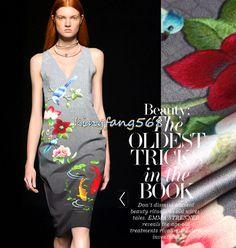 Designer 93% natural mulberry silk 7% spandex stretch satin clothing fabric blue birds red fish dress cheongsam 1.1m U372 #Affiliate