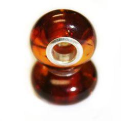 Honey Baltic Amber Pandora style Bead Charm