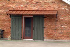 Classic Copper Awning - The Classic Gallery - CANNON COPPER AWNINGS - Copper Awning - Metal Awning for Doors & Windows - Shipped in USA