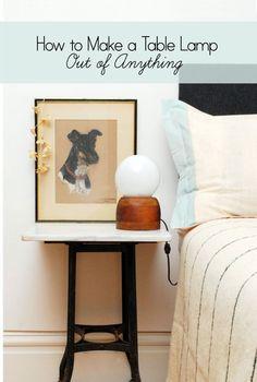 bedside table lamp bedroom nightstand